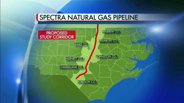 Map of proposed Spectra Energy natural gas pipeline