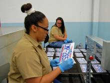 Take a look inside North Carolina's license plate plant at the North Carolina Correctional Institution for Women in Raleigh.