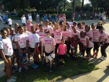 WRAL features #KomenTri inspiration board at Race for the Cure