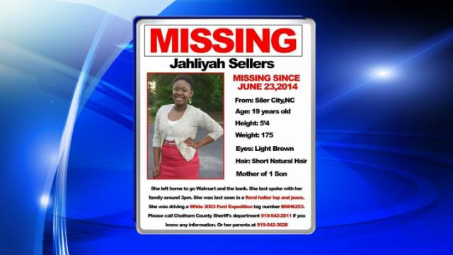 Family members released a missing persons flier for Jahliyah Sellers.