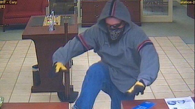 Man sought in Cary bank robbery