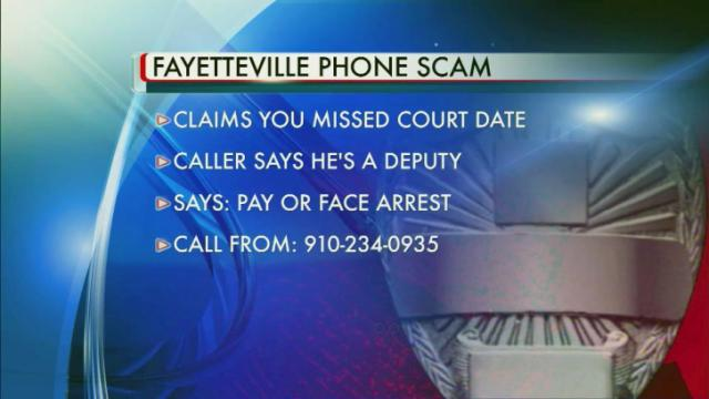 Fayetteville phone scam