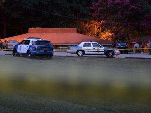 Raleigh police are investigating a stabbing off Kent Road. (Adam Owens/WRAL)