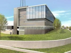 An artist's rendering of Raleigh's $71 million Critical Public Safety Center, which will sit on North Raleigh Boulevard and will house many of the city's essential communications services. (Source: City of Raleigh)