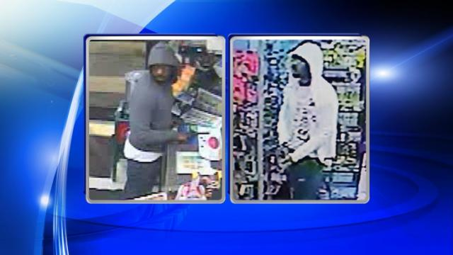 Raleigh investigators released two surveillance photos of a man they believe is responsible for four convenience store robberies in May and June.