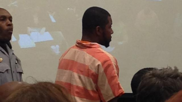 Timothy Hakeem Mays makes his first appearance July 14, 2014, in a Wake County courtroom on a half-dozen charges stemming from the robberies of four Chinese restaurants in Raleigh.