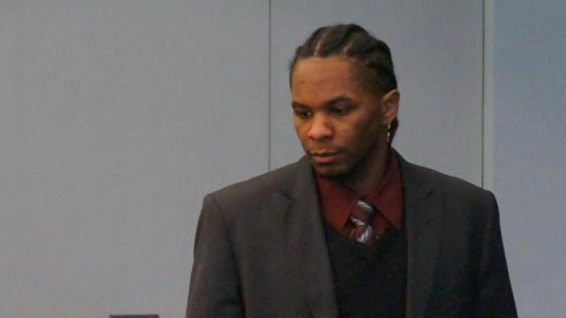 Laurence Lovette enters a Durham County courtroom on July 18, 2014, after a break in his first-degree murder trial for the Jan. 18, 2008, death of Abhijit Mahato.