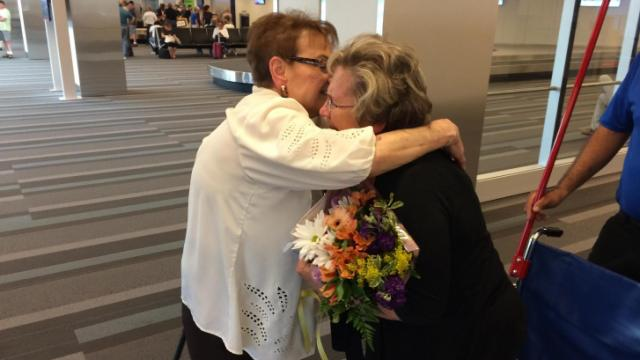 Sisters reunite after 70 years