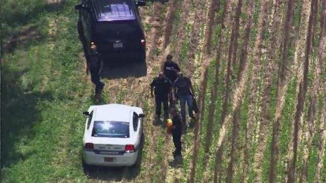 An unidentified person was taken into custody Friday afternoon following a chase in northeastern Wake County, sheriff's office spokesman Jimmy Stevens said.