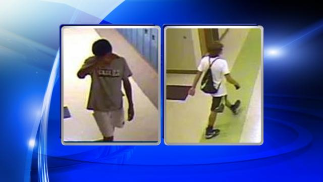 Wake Forest police investigators are trying to identify the person in this photo in connection with a July 12, 2014, break-in at Heritage High School.