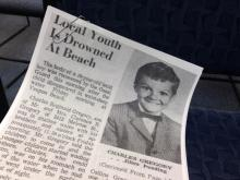 Cindi Vance's brother, Charles, drowned in the surf off Yaupon Beach in 1971.