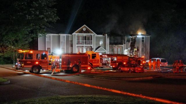 Fire damages Raleigh apartment complex