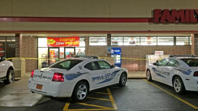 Two men robbed the Family Dollar inside the Clayton Village Shopping Center Saturday night.