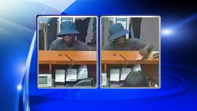Surveillance images show the man wanted in a robbery at a Raleigh Wells Fargo bank on Capital Boulevard.