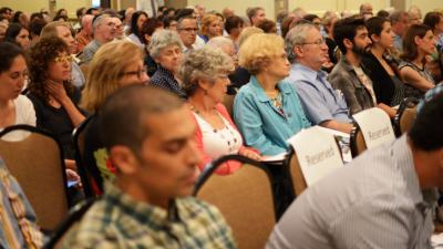 Jews with varying opinions on how to end the war between Gaza and Israel gathered in Durham on Wednesday to discuss the conflict. (Adam Owens/WRAL)