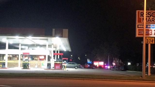 A gas station on U.S. Highway 401 at Purser Drive was robbed at gunpoint Thursday night, authorities said.