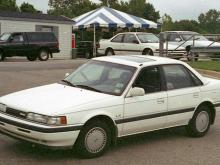 A crime scene photo of Beth-Ellen Vinson's 1990 Mazda 626 in front of a car dealership at 2501 Capital Blvd. on Aug. 16, 1994.