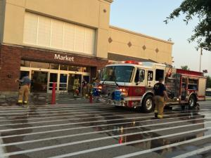 A fire broke out at McDonald's inside Walmart at the Brier Creek shopping center in Raleigh Friday evening, authorities said.