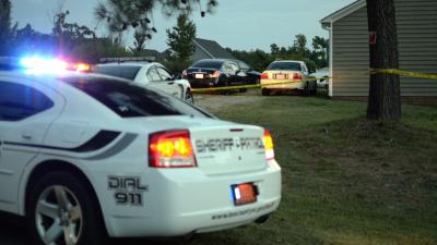 At least one person was shot during an incident at 2603 Andrews Drive in Sanford Monday night, authorities said. (Adam Owens/WRAL)