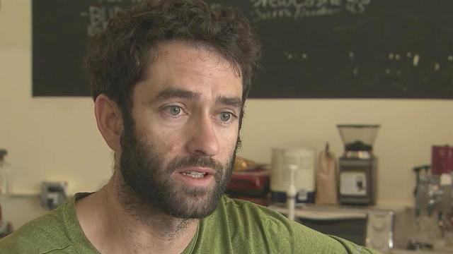 Durham coffee shop owner Matt Victoriano