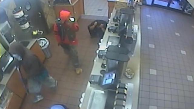 Durham police released surveillance video Monday of two men who robbed a Hillsborough Road Chick-fil-A Sept. 3.