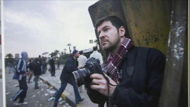 Chris Hondros' photographs are on display in the David McCune International Art Gallery at Methodist University. Hondros, a Fayetteville native, was killed in 2011 while working for Getty Images, covering the civil war in Libya. (Photo courtesy of the Hondros family)