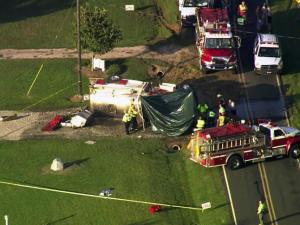 A firefighter was killed and another injured Tuesday Sept.  16, when the fire truck they were in overturned on Sykes Road in Louisburg.