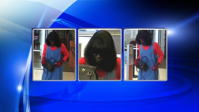A man dressed as a woman robbed the SunTrust Bank on South Main Street in Creedmoor Tuesday afternoon.