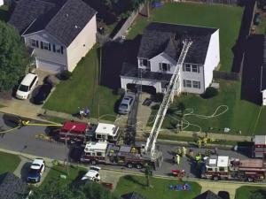 Emergency crews responded to a fire Wednesday morning at a home on Charny Drive in northeast Raleigh.