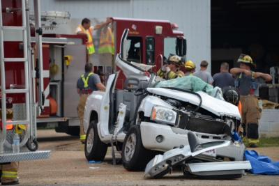 Two people were killed Wednesday afternoon in a three-vehicle wreck on N.C. Highway 210 east of Smithfield, a spokesman for the North Carolina State Highway Patrol said. (Submitted by John Payne)