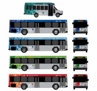 The City of Raleigh unveiled a rendering of a redesign for Capital Area Transit buses, which will be renamed Go Raleigh.
