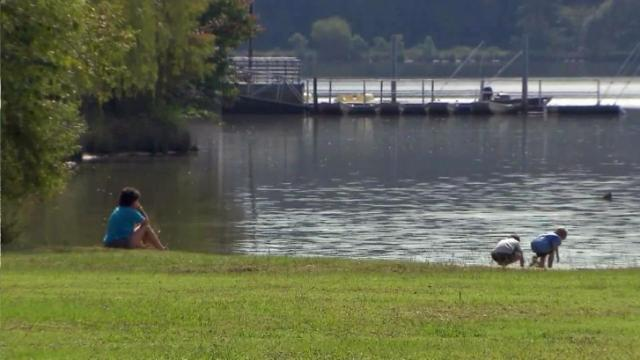The RDU Airport Authority owns Lake Crabtree County Park and leases the land and area around it to the county.