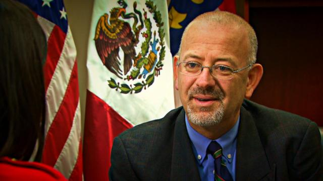 'Be proud of who you are,' says Javier Diaz de Leon, consul general of Mexico in Raleigh.