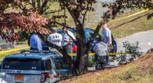 A Hope Mills police officer was involved in a shooting Sunday, Oct. 26, 2014, near the intersection of Legion Road and Pinewood Drive. (Photo courtesy of Leland Matheney)