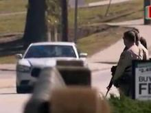 Manhunt, lockdown produces anxiety in small town