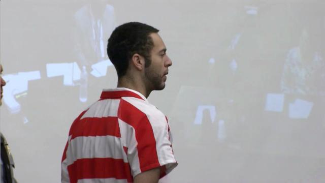 Pierre Ulysses Coley appears in a Wake County courtroom on Nov. 6, 2014, after his arrest on a felony secret peeping charge.