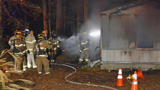 Fire completely destroyed a home Thursday night on pearl Road in Raleigh, officials said.
