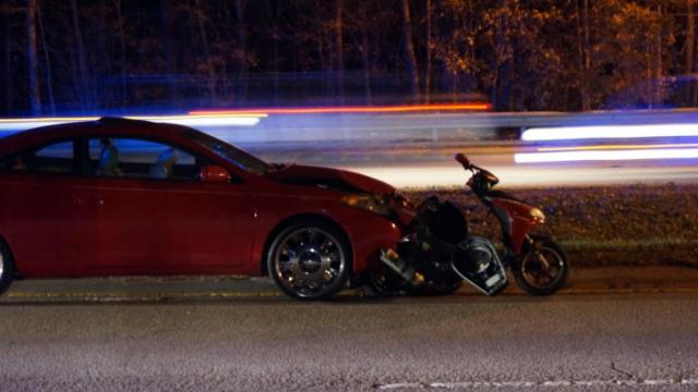 A moped driver died Saturday night in a crash in Raleigh.