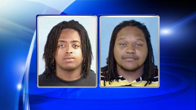 Oji Elon Wynn (L) and Michael Dawane Jones (R) were each charged with murder and felony riot in the Thanksgiving Day killing of a 20-year-old man in Plymouth. Both men are Fayetteville State University students and were arrested on campus.