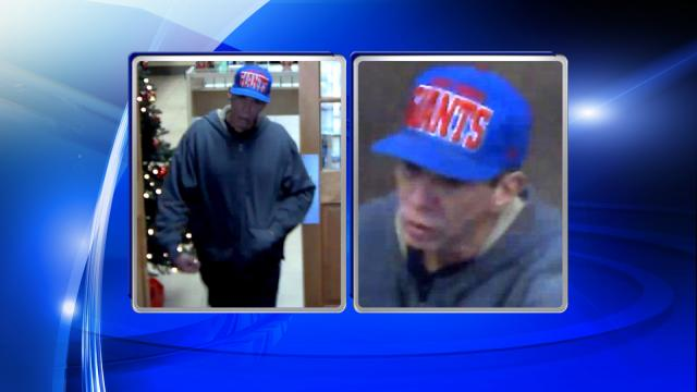 Raleigh police are looking for this man in connection the Dec. 8, 2014, robbery of a Wells Fargo branch at 2600 Hillsborough St.