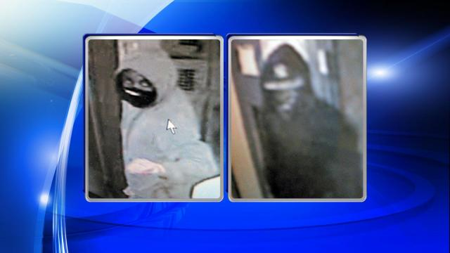 Raleigh police were searching for two men early Saturday in connection with a Friday night armed robbery at a Dunkin' Donuts on Six Forks Road.