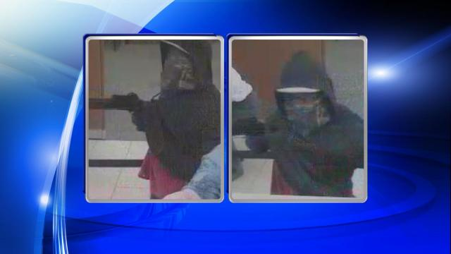 A man who robbed the Wells Fargo bank on Berkeley Boulevard in Goldsboro Wednesday afternoon fired a shotgun into the ceiling during the robbery, authorities said.