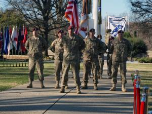 The XVIII Airborne Corps signaled its official return to Fort Bragg Friday morning during an uncasing ceremony at the Main Post Parade Field.