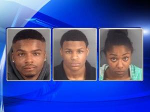 Darrian Djuan Reed, 23, Diquarius Javarus Renfro, 18, and Channell Nesmith, 22
