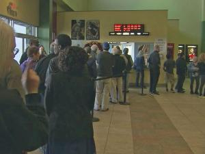 At Northgate 10 Theaters in Durham, customers lined up on Christmas Day.