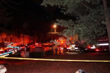 Fire and police personnel responded to a fire Friday, Jan. 2, 2015, at the Trails of North Hills apartments in Raleigh.