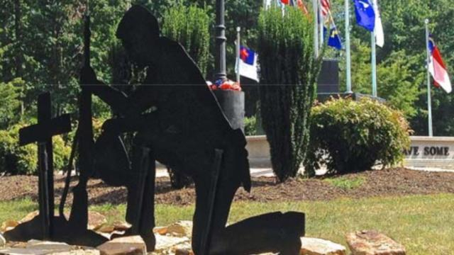"""King City Council voted 3-2 on Jan. 6, 2015, to remove a statue of a praying soldier from a veterans memorial, saying the cost of fighting a federal lawsuit would """"greatly exceed"""" the city's insurance policy limits."""""""