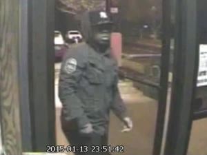 Garner police are looking for the man in this Jan. 13, 2015, surveillance image from AIA Sweepstakes, at 214 Forest Hills Drive, Garner.