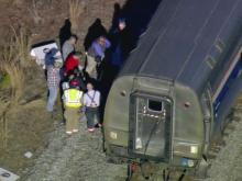 Police say two people were killed Thursday afternoon when they were hit by a train in Smithfield.