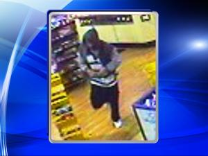 Wake Forest police released surveillance photos Saturday, Feb. 7, 2015, of a suspect wanted for stabbing a clerk at a gas station on Capital Boulevard.